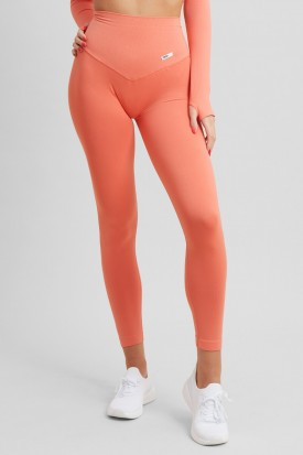 Leggings Push up Gym Fashion Corallo